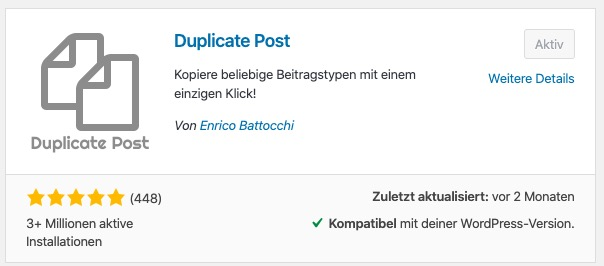 Duplicate Post Installation