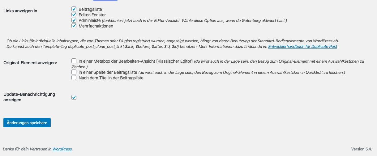 WordPress Duplicate Post