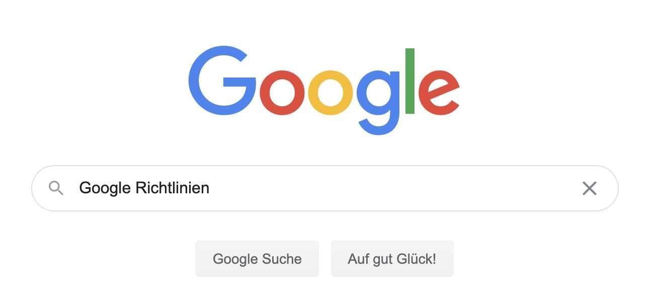 Google Richtlinien