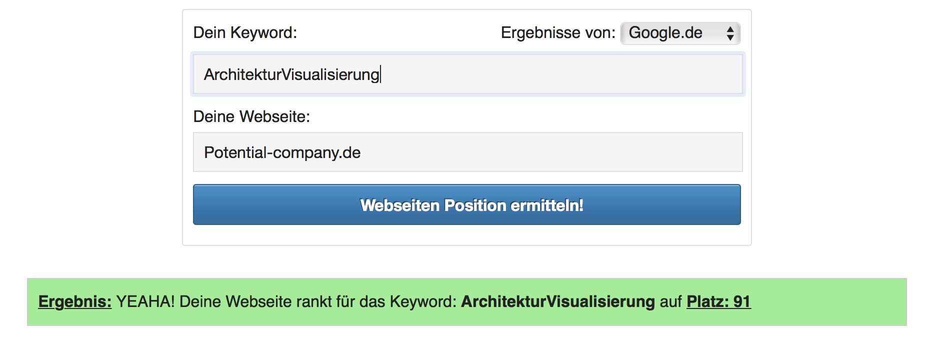 Architektur Visualisierung Ranking 1