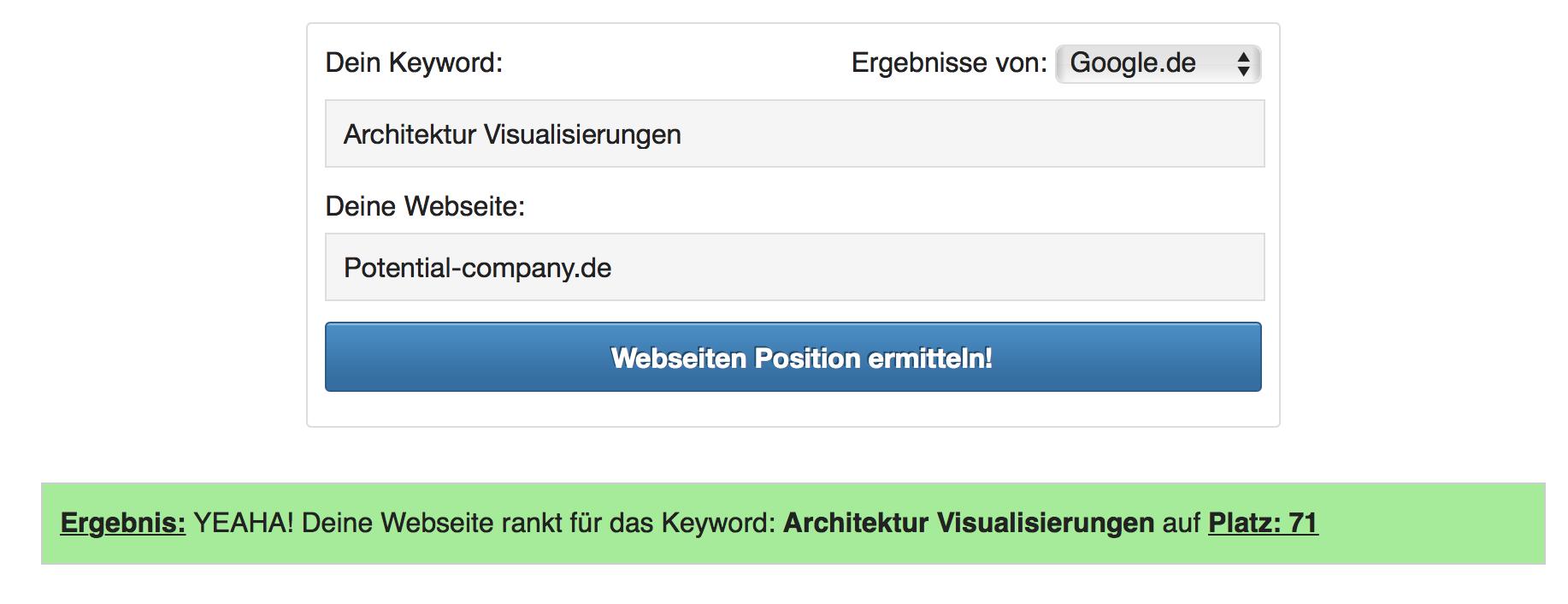 Architektur Visualisierung Ranking 2